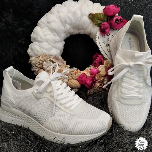 Tamaris fehér/ezüst sportcipő